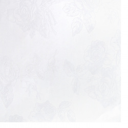 Pearl paper one-sided embossed with roses 120 g / m2 A4 (297x210 mm) white -1 piece
