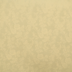 One-sided embossed pearl paper with motif 120 g / m2 A4 (297x210 mm) cream -1 piece