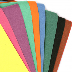 Картон цветен тип шкурка за рисуване A4 29x21 см 10 цвята по 1 брой