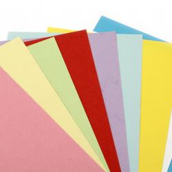 Hartie colorata pe doua fețe 120 g 15,5x29,7 cm amesteca culori -10 buc