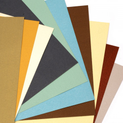 Pearl Kraft cardboard 250 g 18.7x19 cm mixed colors - 10 pieces