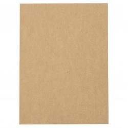 Carton Kraft 400 g / m2 A4 (21x29,7 cm) nucă de cocos -1 bucată