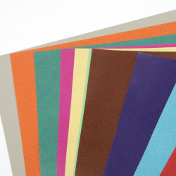 Colored glossy sheets 29.5x21 cm 10 colors of 1 piece