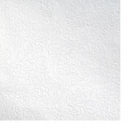 Хартия перлена едностранна релефна с мотив 120 гр/м2 50x70 см бяла -1 брой