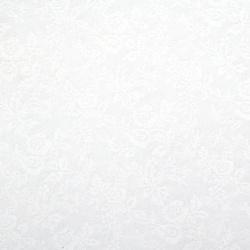 Хартия перлена едностранна релефна с мотив 120 гр/м2 50x78 см бяла -1 брой
