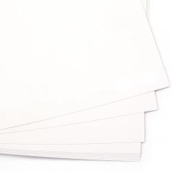 Картон 250 гр/м2 гладък А4 (21x 29.7 см) бял -1 брой