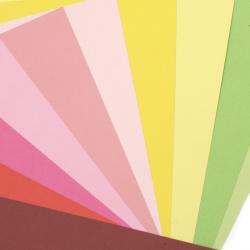 Картон 250 гр/м2 двустранен гладък А4 (21x 29.7 см) Mixed Colour 16 цвята -24 броя