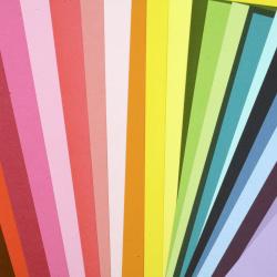 Картон 250 гр/м2 двустранен гладък А4 (21x 29.7 см) Mixed Colour 24 цвята -24 броя