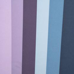 Χαρτόνι 250 g / m2 διπλής όψης λείο A4 (21x 29,7 cm) Midnight Skies 6 χρώματα μπλε-μωβ αποχρώσεις -6 φύλλα