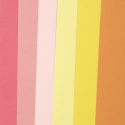 Картон 250 гр/м2 релефен едностранен А4 (21x 29.7 см) Citrus Colours 6 цвята цитрусова гама-6 броя