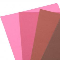 Картон 250 гр/м2 двуцветен гладък А4 (21x 29.7 см) Berry Shades 6 цвята розово-червена гама -8 броя