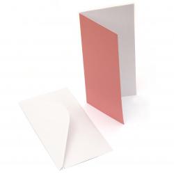 Комплект основа за картичка 300 гр Citrus Colours 6 цвята цитрусова гама 10x21 см с бял плик 10.7x21.5 см 100 гр -6 броя