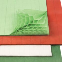 Хартия пчелна пита (вафлена) 28x17.8 см МИКС цветове -1 брой