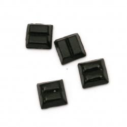 Mozaic de sticlă pentru decorare 10x10x4 mm culoare negru 100 grame ~ 153 bucăți