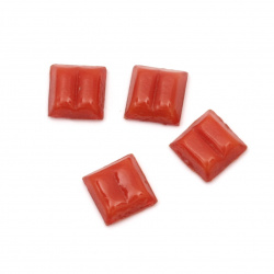 Glass mosaic for decoration 10x10x4 mm color Skarlet Red 100 grams ~ 153 pieces