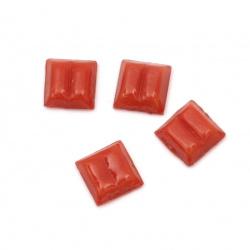 Sticla mozaic pentru decorare 10x10x4 mm culoare roșu 100 grame ~ 153 bucăți
