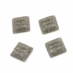 Glass mosaic for decoration with crystal structure 10x10x4 mm color gray 100 grams ~ 153 pieces