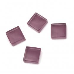 Mirror glass mosaic for decoration 10x10x4 mm color purple 100 grams ~ 113 pieces