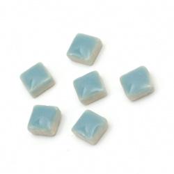 Ceramic mosaic for decoration 5x5x3.5 mm color light blue 20 grams ~ 132 pieces