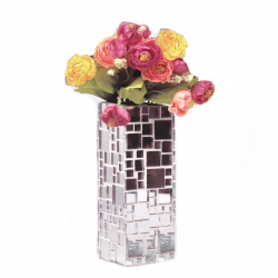 Creative Vase Set 205x60x60mm 4 Sizes Mirror Glass Mosaic for Decoration ~ 237 pieces