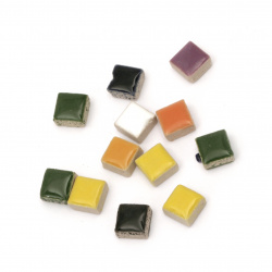 Mosaic 10x10x5 mm assorted color -50 pieces