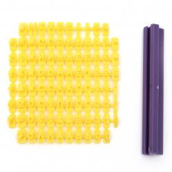 Щампа цифри, букви и символи 0.5 мм с държач 95 мм -92 елемента