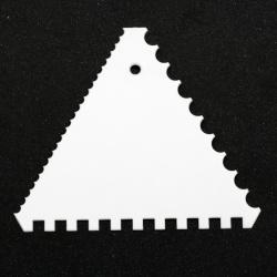 Комплект триъгълни шпатули 105x105x105 мм за декорация назъбени -2 броя