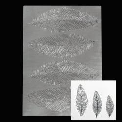 Комплект релефни текстурни стенсил подложки 255x180 мм пера -3 броя