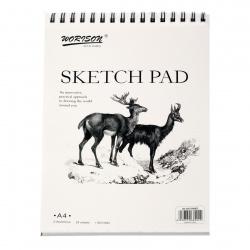 Скицник А4 спирала sketch pad 160 гр 24 листа