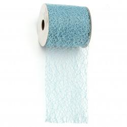 Spider Web Net for Decoration, DIY Crafts Party 8 cm color blue - 9 meters