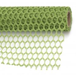 Декоративна мрежа за цветя 50x455 см цвят зелен
