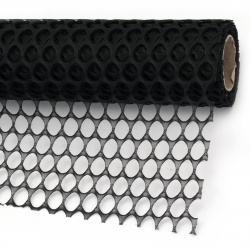 Декоративна мрежа за цветя 50x455 см цвят черен