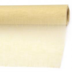 Organza embossed solid 48x450 cm ecru color