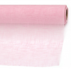 Organza embossed solid 48x450 cm pink