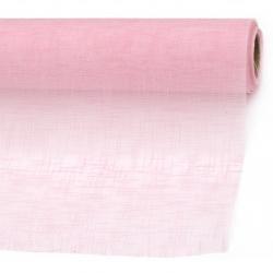 Organza gofrat solid 48x450 cm roz