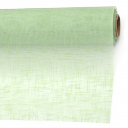 Органза релефна твърда 48x450 см цвят зелен