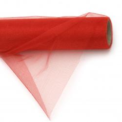 Органза 48x450 см червена