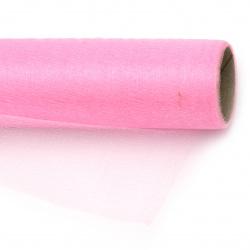 Organza 48x450 cm bright pink