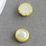 Elemente pentru decorarea emisferei perle de 4,5x2 mm într-o cutie care se potrivește alb ~ 60 de bucăți