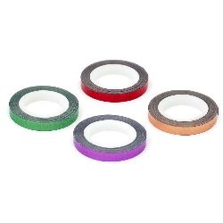 Foil tape for decoration 6 mm different colors