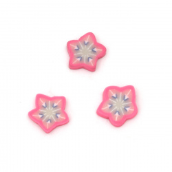 Fimo decoration elements 10x10x2 mm star -20 pieces