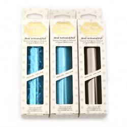Декоративно фолио 125 мм за топъл печат АСОРТЕ цветове и ефекти Hot Foil -5 метра