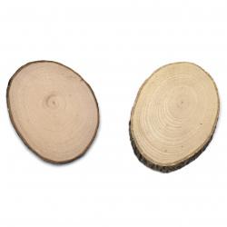 Елипса дърво 70x100x5 мм -2 броя