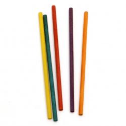 Дървени пръчки 150x5 мм цветни 20 броя