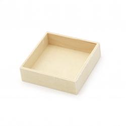Κουτί ξύλινο επίπεδο 70x70x20 mm χρώμα λευκό