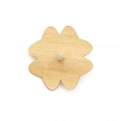 Пумпал дървен 70x3 мм детелина бял