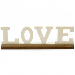 "Script Wooden Words: ""Love"" 285x85x30 mm with stand"