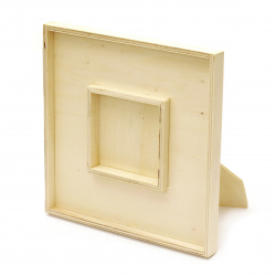 Unfinished Wooden photo frame 180x180x15 mm for decoration