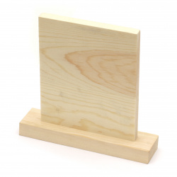 Пано дървено за декорация 160x165 мм с поставка