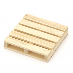 Поставка дървена 100x100x20 мм палет